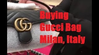What It's Like to Buy Gucci Bag in Milan, Italy - Shopping Experience