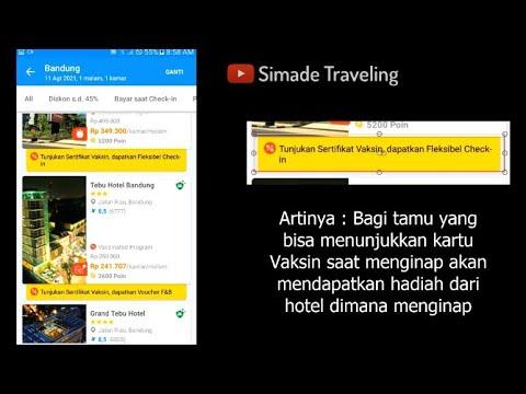 Tunjukkan kartu Vaksin Saat Menginap di Hotel lewat Traveloka, Artinya?
