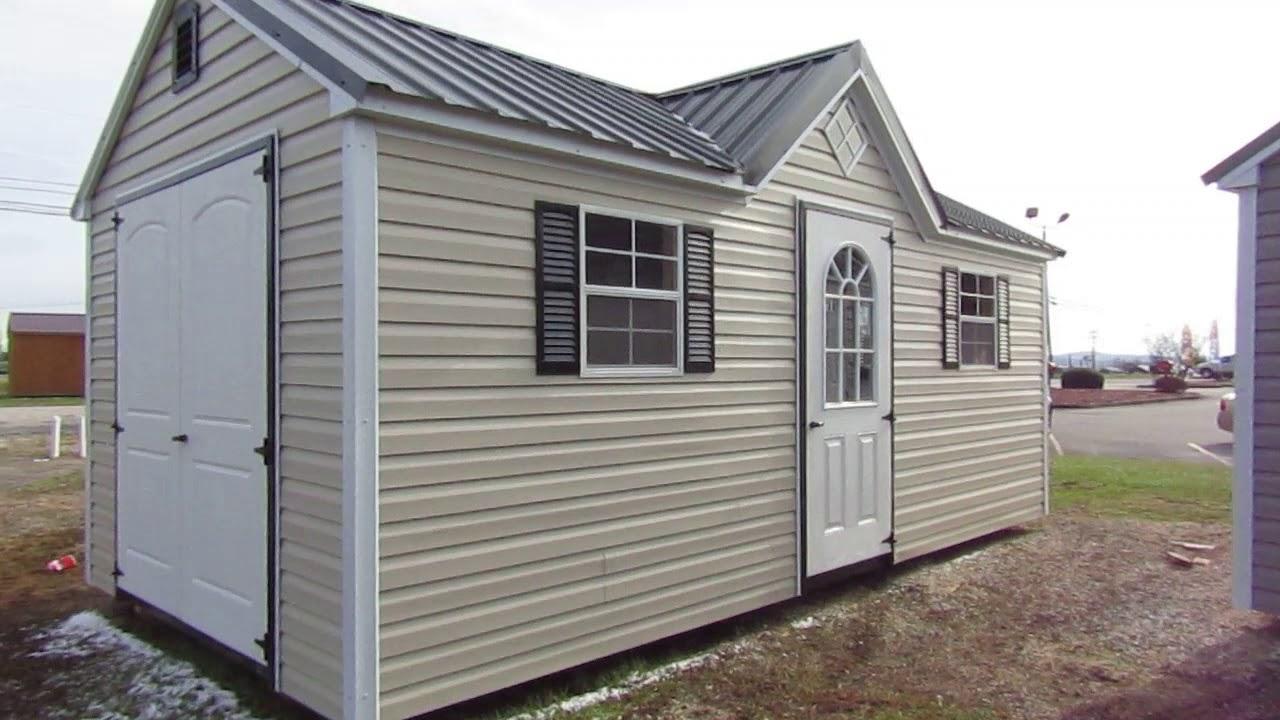 Quaker 10x20 Workshop Vinyl sided shed