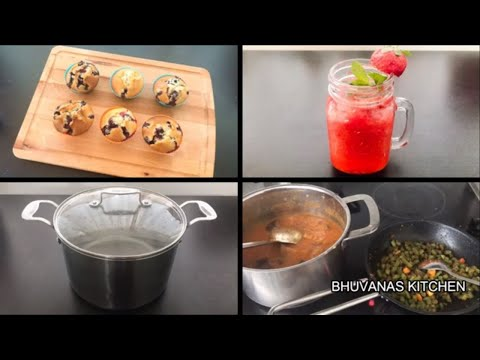 how-to-make-blueberry-muffins-||-kitchen-cookware-collections-~strawberrylemonade-~bhuvanaskitchen
