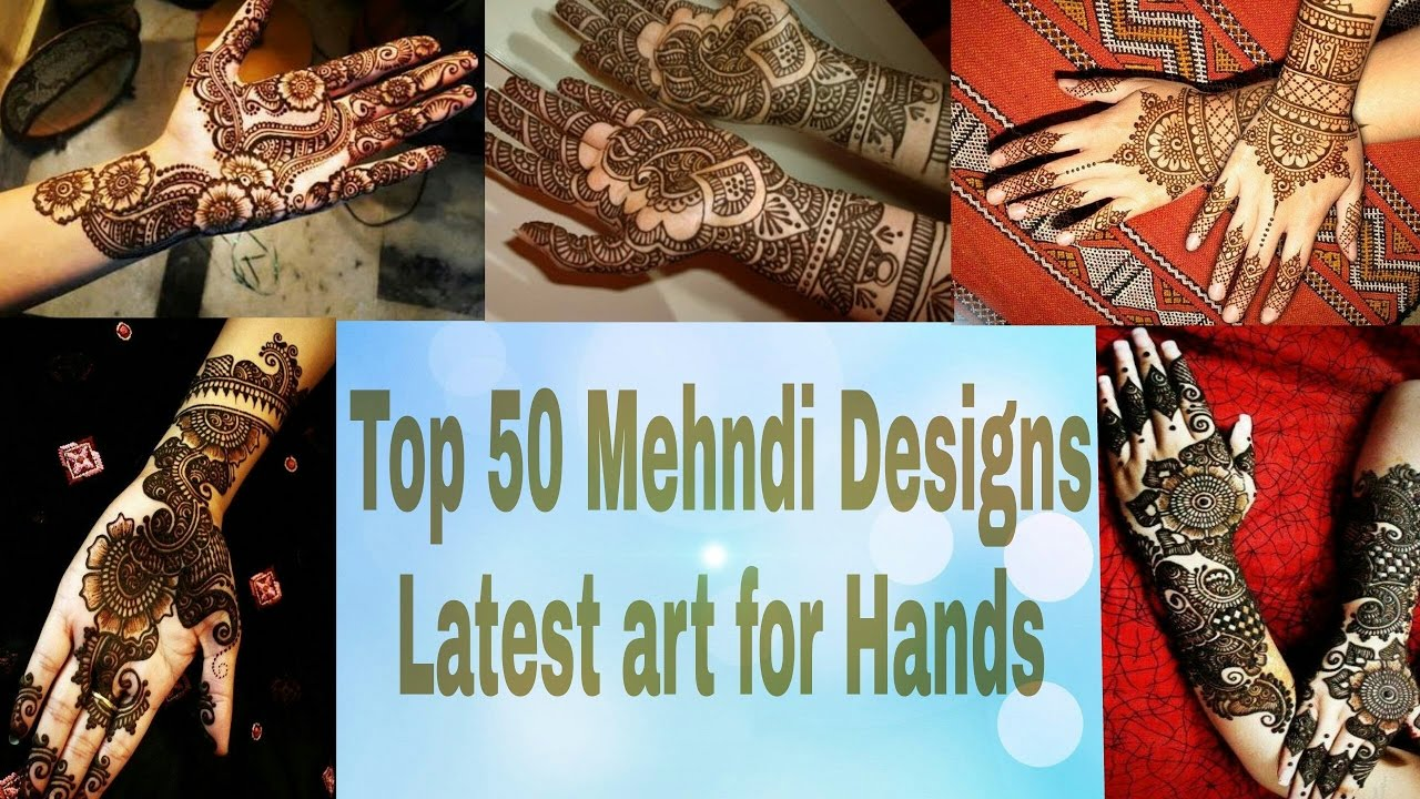 50 intricate henna tattoo designs art and design 50 - Mehndi Design Top 50 For Hands Top 50 Latest Mehendi Design Pictures For Hands