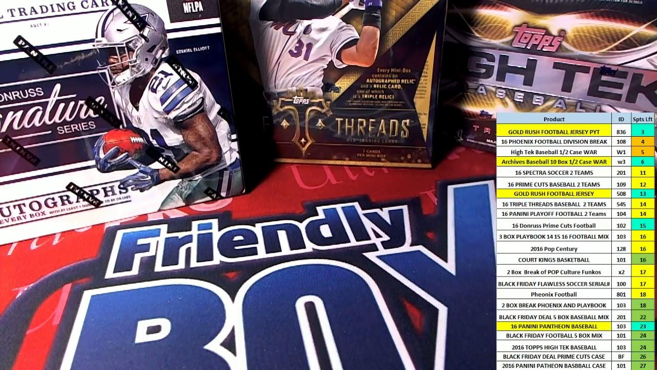 Friendly Box Breaks >> Friendly Box Breaks 12 2