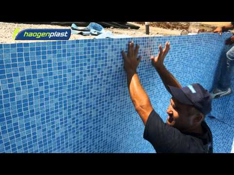 Installation of Agam swimming pool liners