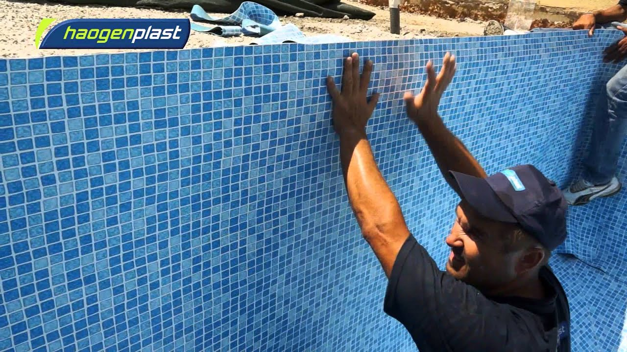 Installation Of Agam Swimming Pool Liners Youtube
