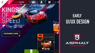 EARLY UI/UX DESIGN | ASPHALT 9
