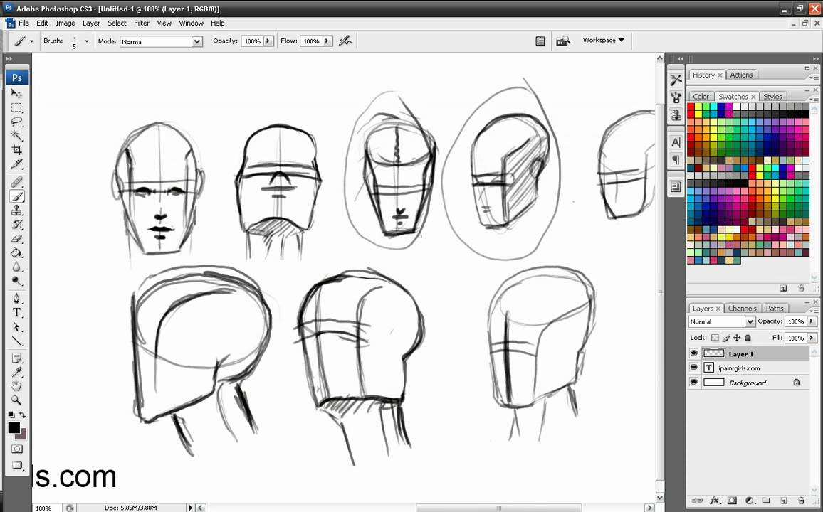 Part 2 Tutorial - Drawing heads/faces from different ...