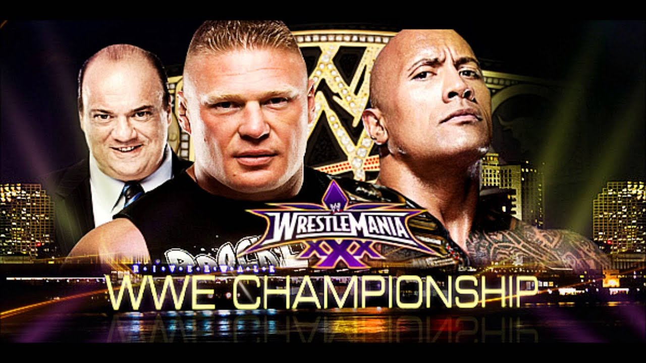THE ROCK vs BROCK LESNAR - Wrestlemania XXXI ...