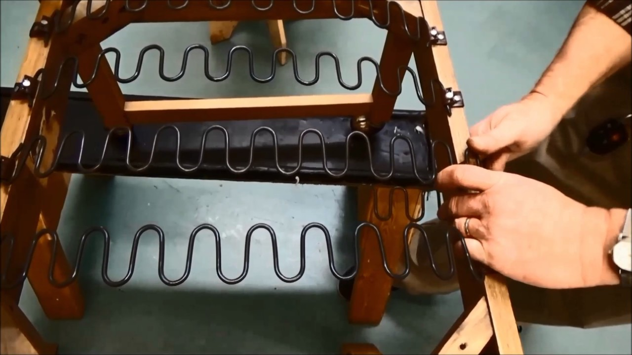 Upholstery Basics Step by Step Installing Zig Zag Springs & Upholstery Basics: Step by Step Installing Zig Zag Springs - YouTube