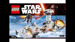LEGO Star wars 75138 Нападение на Хот. Инструкция по сборке