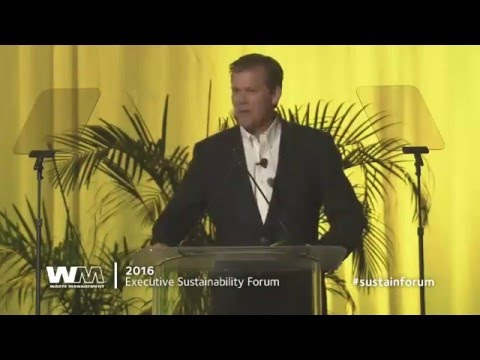 2016 Waste Management Executive Sustainability Forum CEO Jim Fish Speech