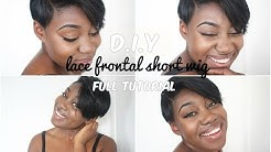 How to make a Lace Frontal Wig | Short hairstyle | DIY