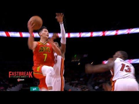 Jeremy Lin Highlights - Heat at Hawks 1/6/19
