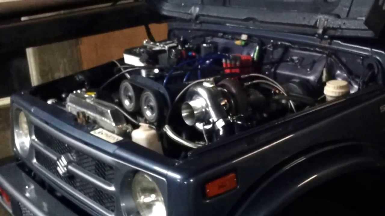 Suzuki samurai G13b turbo microtech en dyno