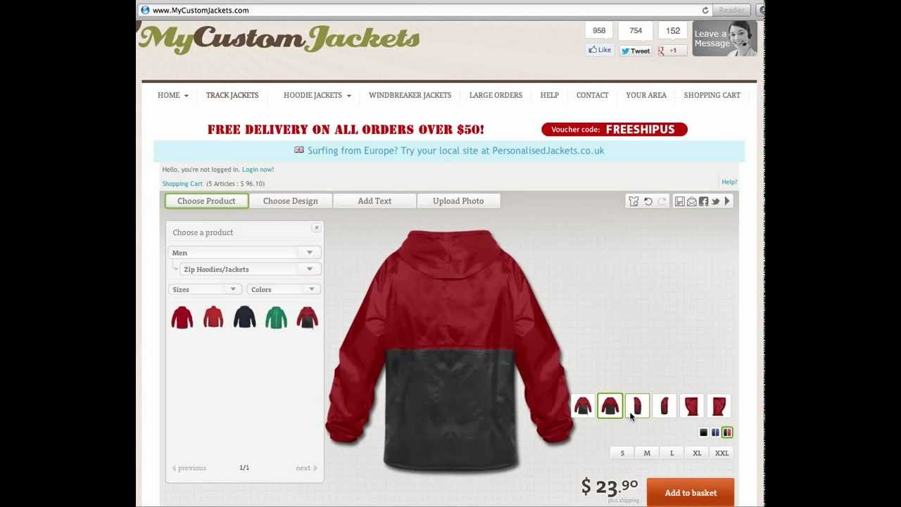 Custom Jackets - Design Your OWN Custom Jackets Online! - YouTube