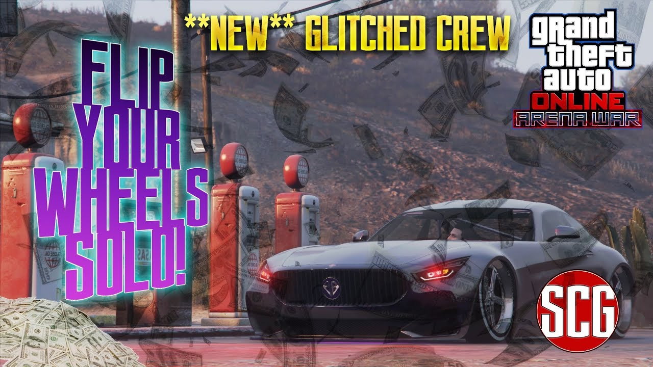 GTA 5 Online - **HOW TO** FLIP YOUR WHEELS SOLO - CREW DUPE GLITCH   By SCG!