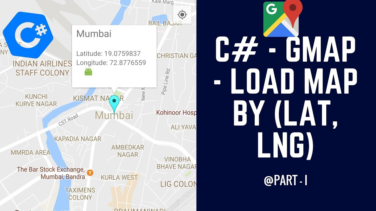 C# - GMap - How to Display Map based on Laude and Longitude ... Display Lat Long In Google Maps on