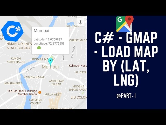 C# - GMap - How to Display Map based on Latitude and