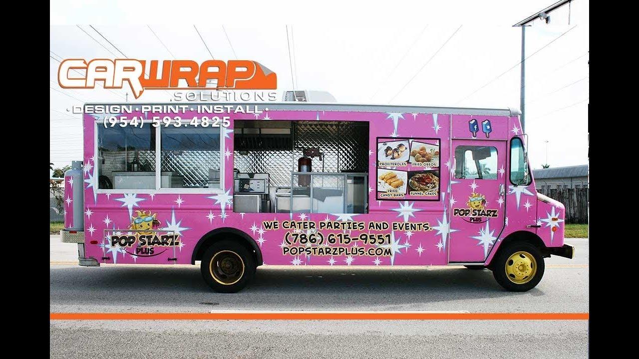Miami Florida Food Truck Graphic Design Amp 3m Vinyl Wrap