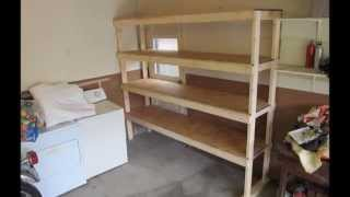 How To Build A Shelf For The Garage Or Basement
