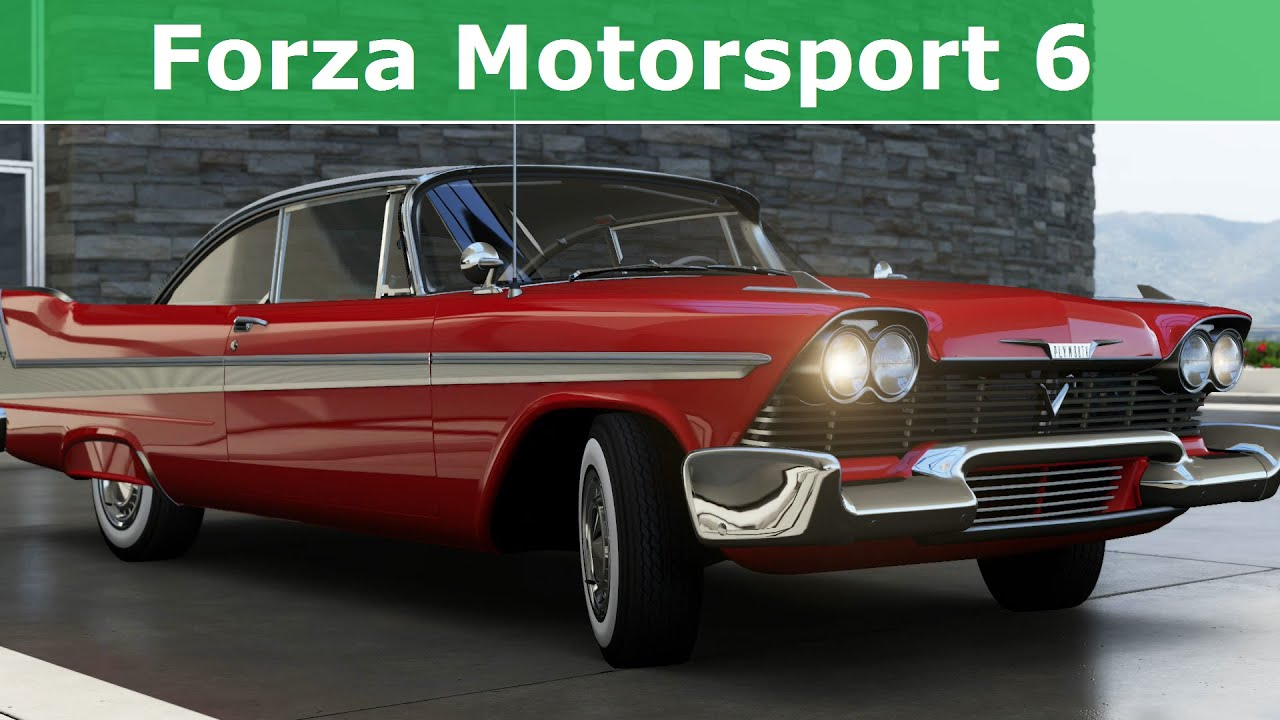 forza motorsport 6 1958 plymouth fury mobil 1 car pack. Black Bedroom Furniture Sets. Home Design Ideas