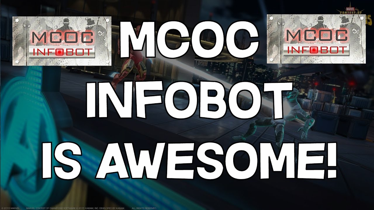 INFOBOT in line app for MCOC (marvel contest of champions