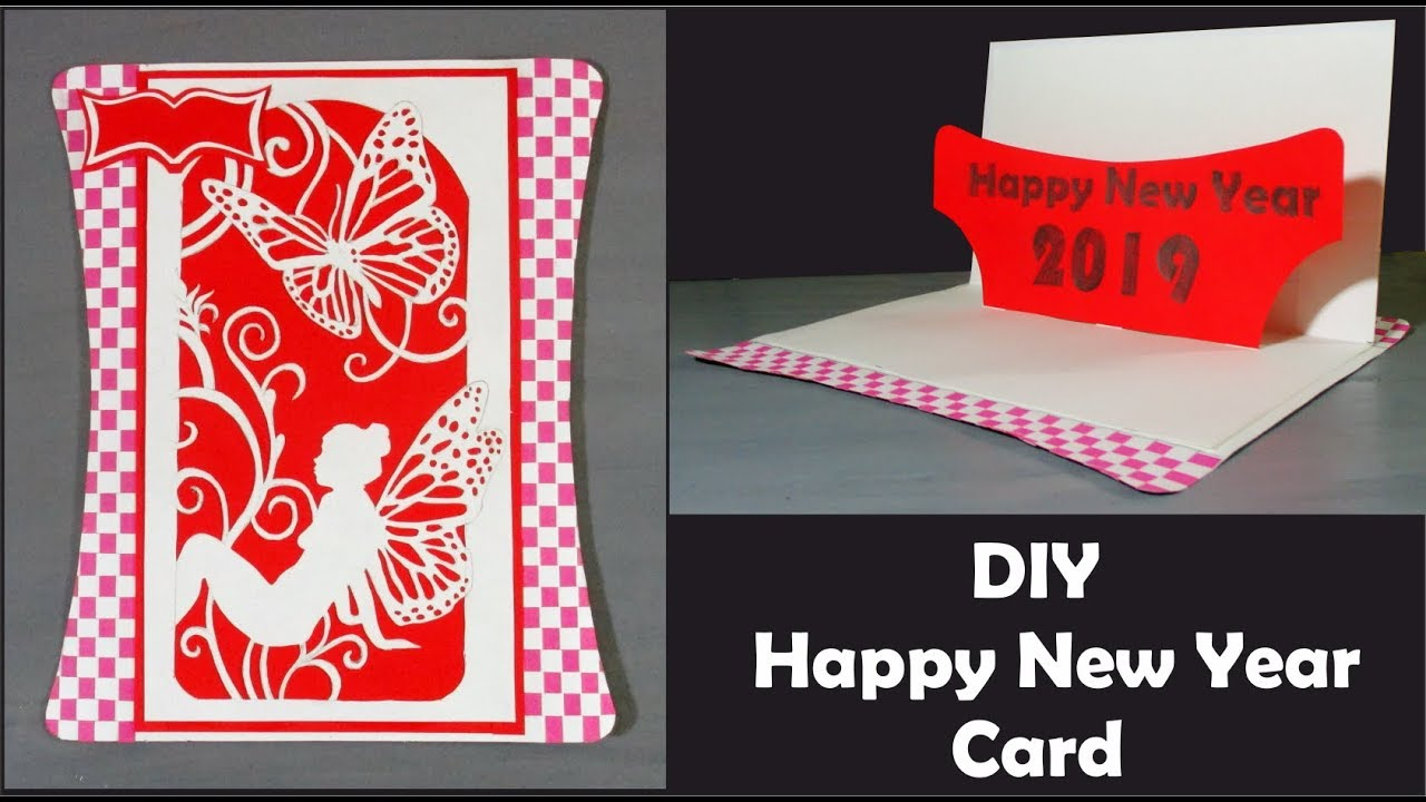 How To Make New Year Greeting Cards 2019 - Handmade ...