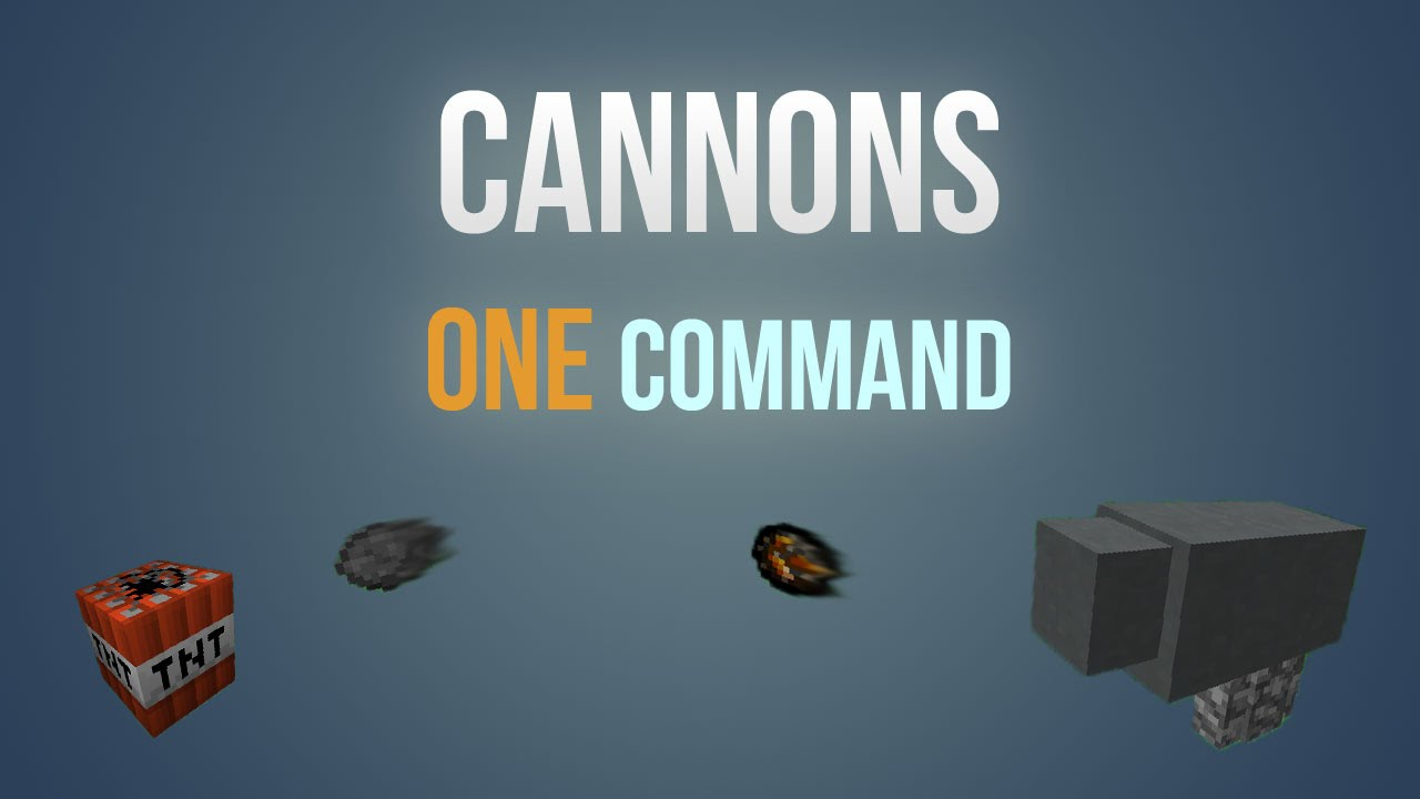 Minecraft Cannons In One Command Block