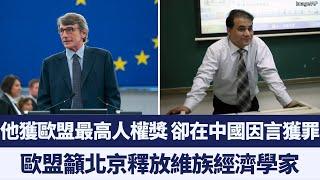 為中國少數族裔發聲遭中共污衊為「恐怖份子」 歐盟最高人權獎得主因言獲罪|新唐人亞太電視|20191028
