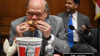 Steve Cohen eats Kentucky Fried Chicken at Barr hearing