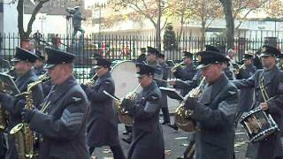 Royal air force band and regiment march to the cenotaph 13/11/2011