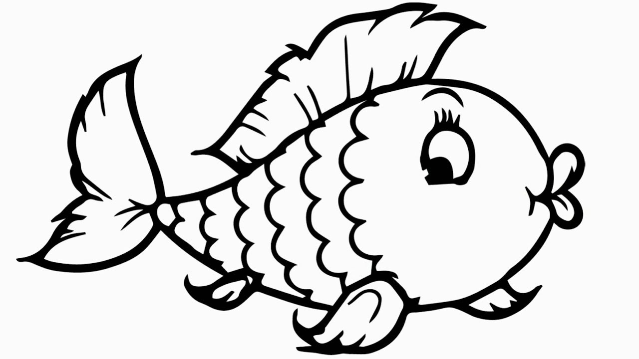 rainbow fish drawing  coloring pages for children  how