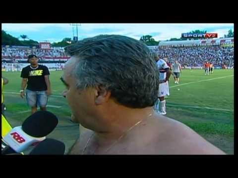 Gol de Clebinho, minutos finais e comemoração da torcida - 15/04/2012