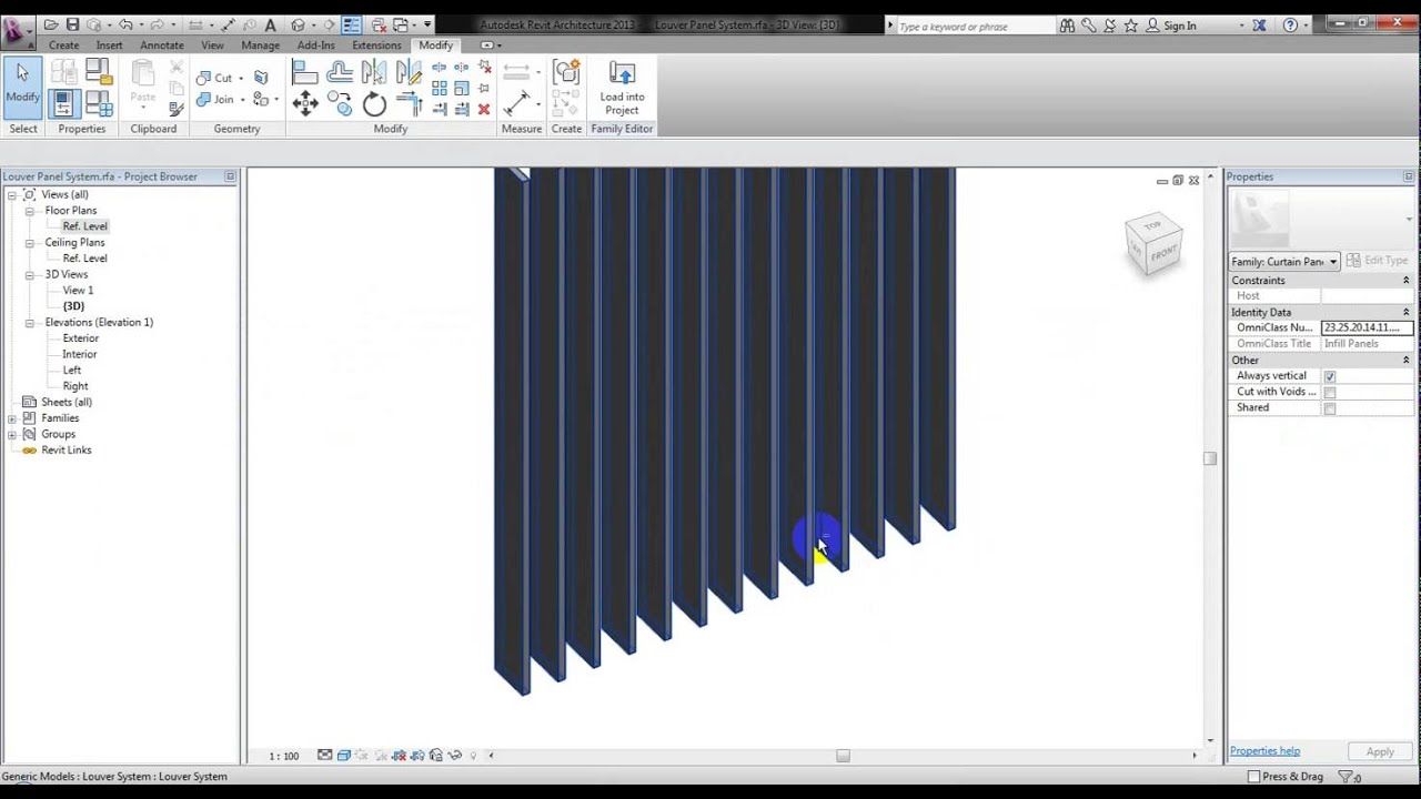 Bpd Rt005 Parametric Louver System Youtube