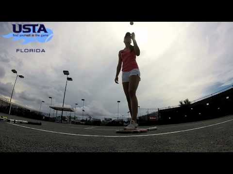USTA Florida Go Pro Tennis Tip: The Toss - YouTube