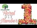 Dollar Tree DIY Floral Number