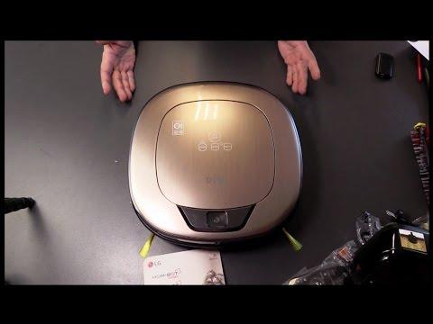 LG Hom-Bot VRD 830 MGPCM Staubsauger Roboter, metal gold