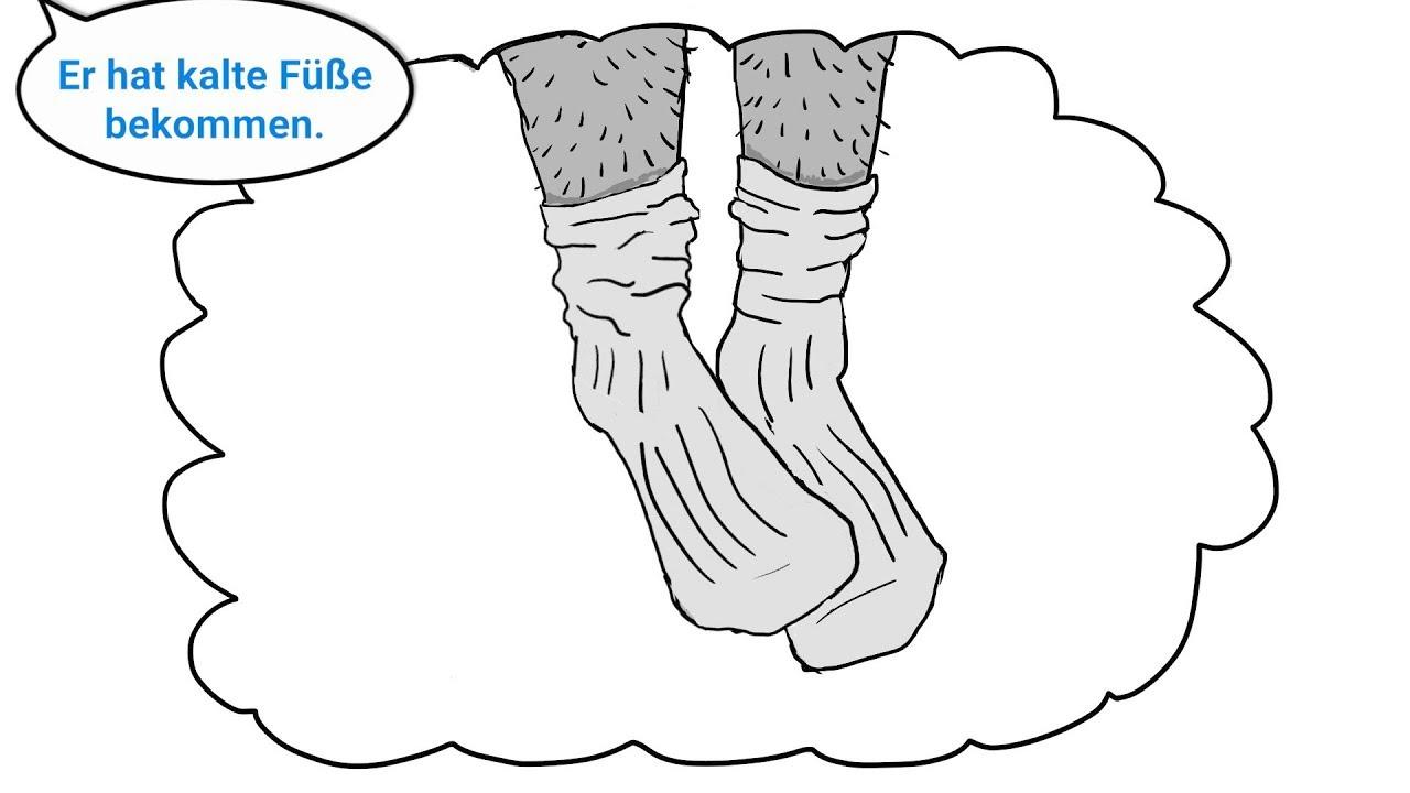 Wenn männer kalte füße kriegen. 💄 Redewendung: Kalte Füße