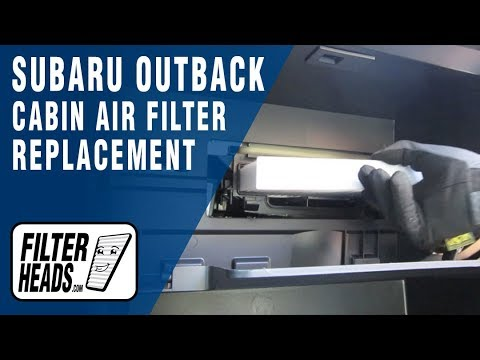 How To Replace Cabin Air Filter Subaru Outback Youtube
