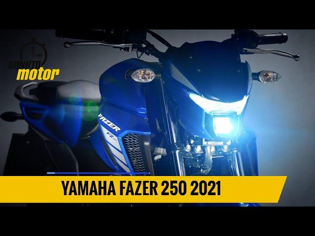 Yamaha Fazer 250 2021 de cara nova