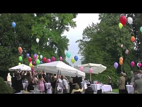 Beautiful Balloon Release At A Wedding