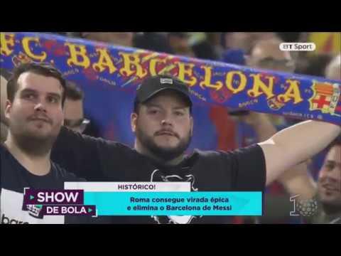 Roma Derrota Barcelona De Messi Show De Bola  Youtube