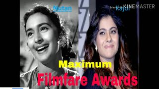 Filmfare Awards Nutan and Kajol | Maximum Filmfare awards for Best Actress | Filmfare awards Kajol