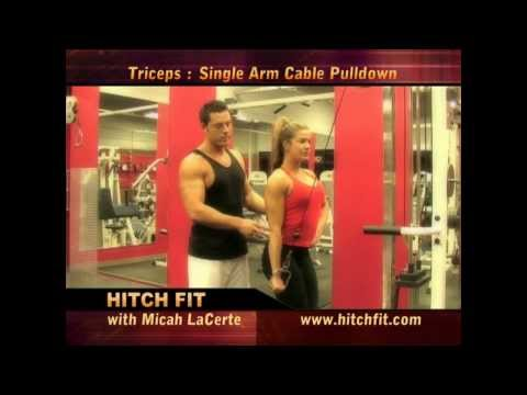 Single Arm Cable Tricep Pull Down