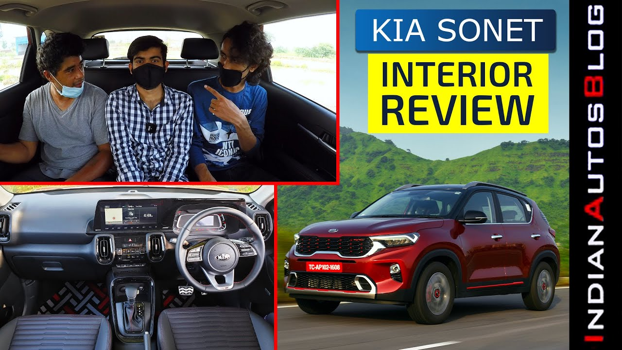 Kia Sonet Interior Review Hindi Can You Seat 3 People In The Rear Indianautosblog Youtube