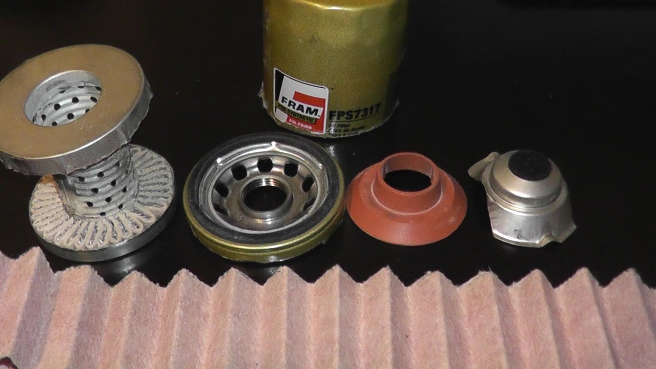Fram ultra synthetic oil filter cut open