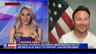 Political activists celebrate Independence Day at 'We Back Blue' rally