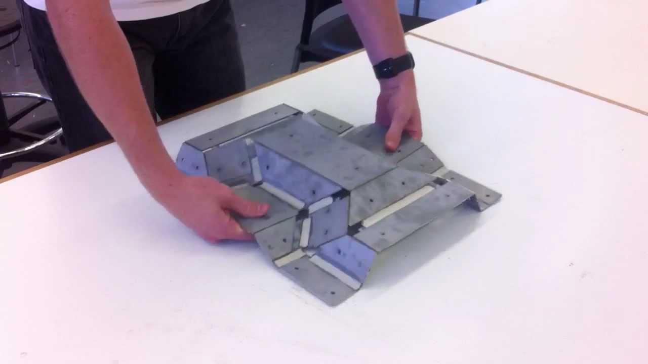 Thick Rigid Origami Sheet Metal Model Youtube
