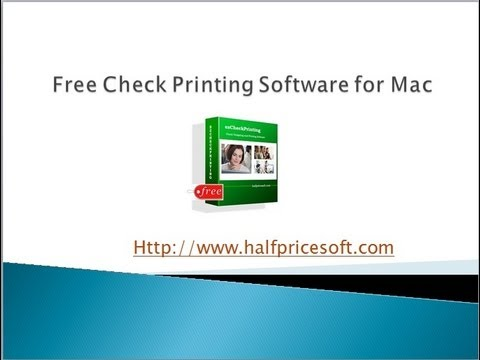 Free Check Printing Software for Mac