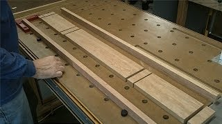 Sheraton Writing Desk - Making The Rails - Assembling Front Rail With The Festool Df 500