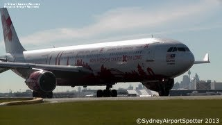 AirAsia X Airbus A330-300 9M-XAA - Taking Off at Sydney Airport SYD / YSSY
